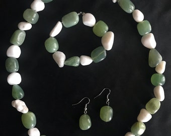 Natural Stone Jewelry Set