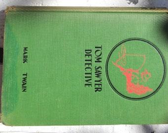 "1924 ""Tom Sawyer Detective"" vintage book"