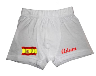 pants white Spain boy personalized with name