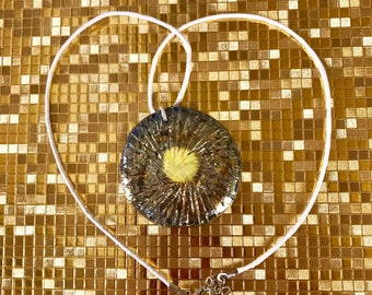 Raku jewelry gold Pendant Raku unicue jewellery for special occasions or every day ceramic lovers sophisticated women artistic gift for her