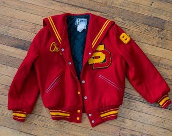 """SD Letter Jacket with """"Cheryl"""" Chainstitch"""