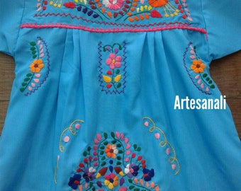 Traditional Mexican hand Embroidered size 4 years old/