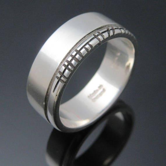 Personalized Ogham Ring | Handmade in Ireland | Celtic Ogham Wedding Band | Free Worldwide Shipping