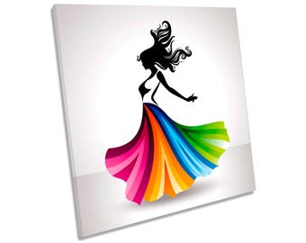 Female Fashion Modern Dress CANVAS WALL ART Square Print
