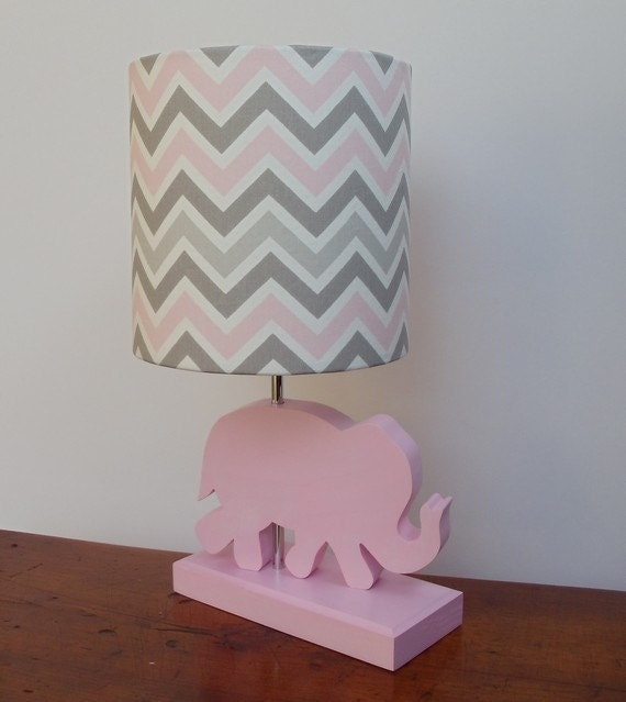 Small pinkgreywhite chevron drum lamp shade nursery or like this item aloadofball