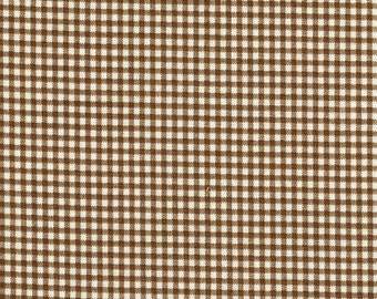 "24"" Curtain Tailored Tiers, Suede Brown Gingham, Lined"