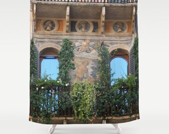 Shower Curtain - Italy Shower Curtain - Photo Shower Curtain - Bathroom Shower Curtain - Gift - Bathroom Decor - Decorating Idea - Italy