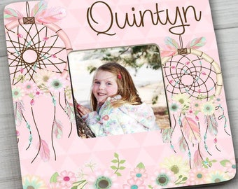 Pink Floral Dream Catcher Girls Bedroom Photo PICTURE FRAME for Kids Bedroom Baby Nursery Pf0095