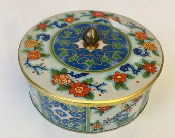 Vintage Daher Flower Tin