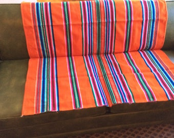 Ethnic tribal Aztec wool fabric panel remnant crafts pillow blanket bold colors