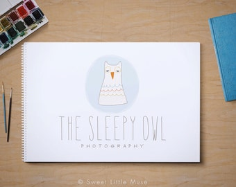Owl logo - premade photography logo - OOAK logo - one of a kind logo