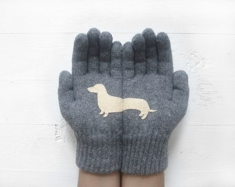 Unisex Gloves, Year Of The Dog, Winter Sale, Dachshund Gloves, Girlfriend Gift, Gift For Him, Gift For Her, Dachshund Lover Gift, Dog Gift