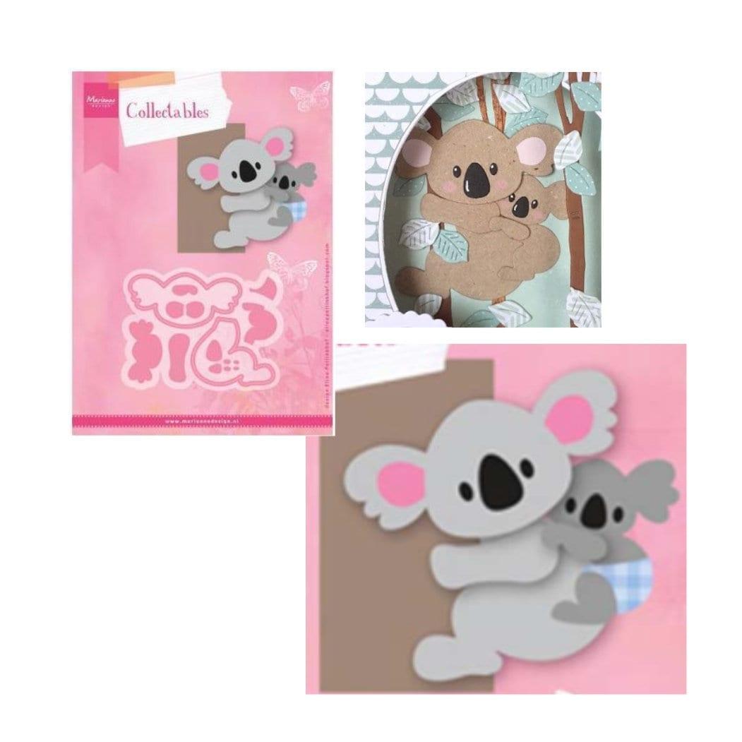 Koala and Baby craft die cut set Marianne Eline\'s animals