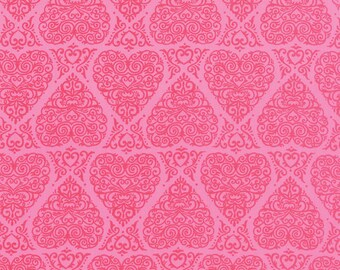 Moda Fabric - Ever After - Deb Strain - Passionate Pink - 19742 15 - Cotton fabric by the yard(s)