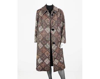 Long Vintage Tapestry Coat