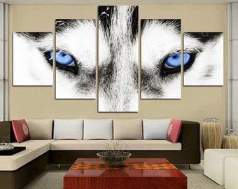Blue Eyes 5pc Canvas Set