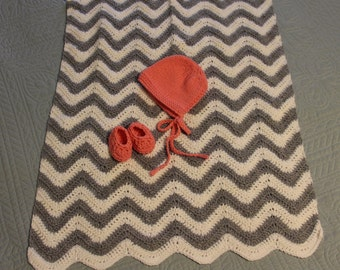 50-Cent Chevron Baby Blanket Crochet Pattern -- Easy Project Perfect for Shower Gifts!
