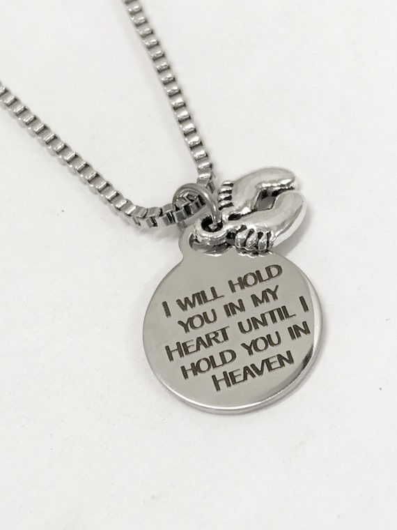Child Loss Memorial, Miscarriage Memorial For Men, I Will Hold You In My Heart Until I Hold You In Heaven, Pregnancy Loss Gift For Dad