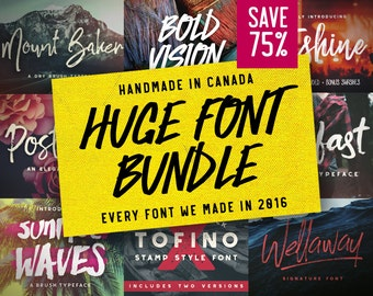 Font Bundle - Discount, Deal, Script, Bestsellers, Lettering, Brush Typeface, Wedding, Logo