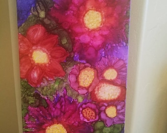 Flower Burst Abstract Wall Art Painting