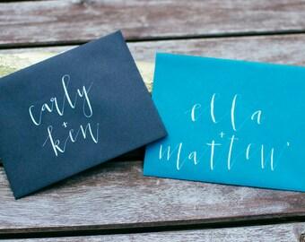 Modern Calligraphy Envelope Addressing | Wedding Envelope Addressing | Modern Lettering Inner Envelope | Enclosure Envelope Lettering