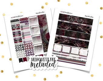 OCTOBER MONTHLY VIEW Wicked // Printable Planner Stickers /Erin Condren Plum Paper Happy Planner Filofax Inkwell Press Halloween Fall Autumn