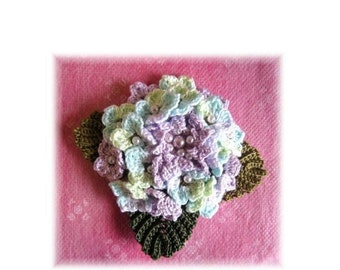 handmade crochet flower motif brooch corsage for party, wedding, gift