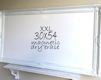 Home Office Decor HUGE Dry Erase Board MAGNETIC White Board Distressed Wall Decor Farmhouse Decor Message Center Family Organizer Schedule