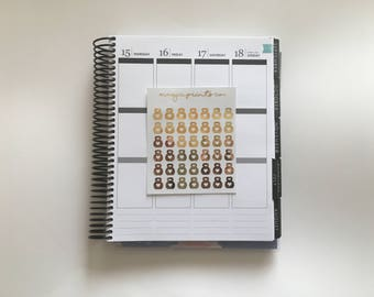 Kettle Bell Workout Foil Planner Stickers!