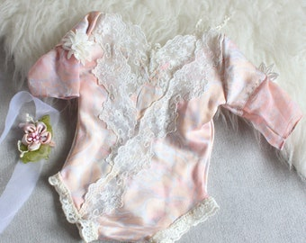 Newborn Rompers, Baby Rompers, Powder Pink, Girls Props, Spring Rompers, Newborn Photography, Baby Props,Baby Rompers,by Zoraya Baby Props
