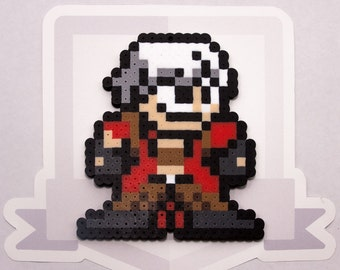 Dante Perler Bead Sprite Necklace || Devil May Cry || Ultimate Marvel vs Capcom 3 || Gaming, Accessory, Wearable, Gift