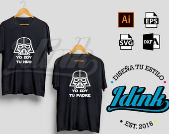Star wars vector, Darth Vader vector, im your father, digital design | File vector cut vinyl, screen printing, sublimated |. ai, SVG, EPS, DXF
