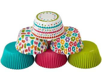 Spring Medley Wilton Standard Cupcake Liners Baking Cups Muffin Cups - Baking Supplies Cupcake Supplies - spring cupcake liners