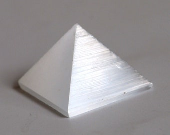 Selenite Crystal Pyramid Stone (Beautifully Gift Wrapped)
