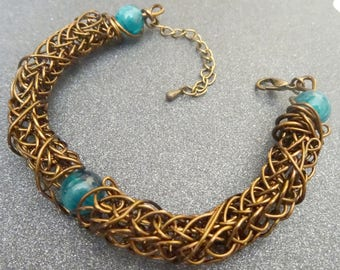 Viking knit bracelet 1