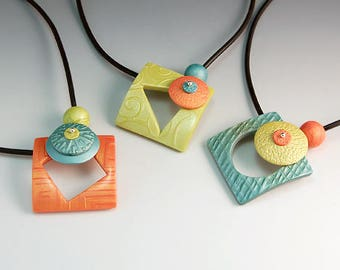 "Polymer Clay PDF Tutorial ""Sorbet Pendant"""