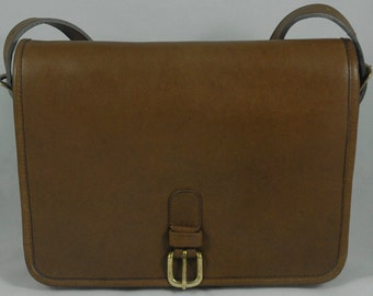 Vintage Coach Large Saddle Pouch in Putty