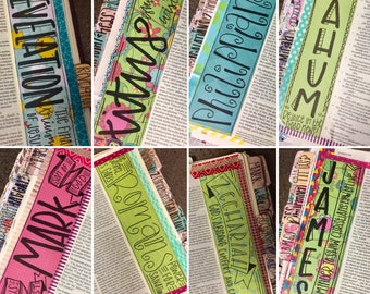SALE!! Books of the Bible Bookmarks! Instant Download, journaling, Bible Journaling