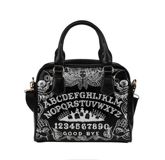 Ouija Black Shoulder Handbag