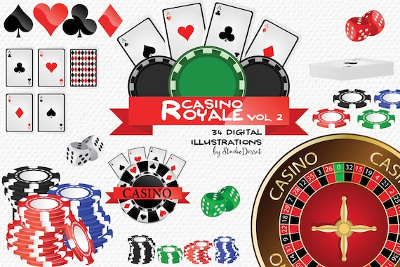 Casino Cliparts Poker Clip Art Cards Chips Poker Dice