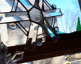 bevelled glass star suncatcher
