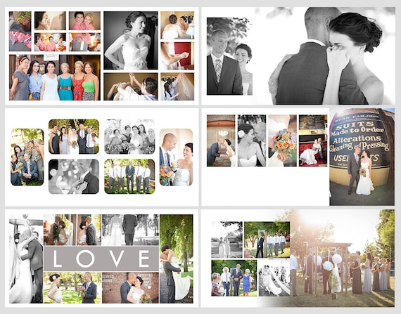Square Album Template for Photoshop 10 Spreads/20 Pages