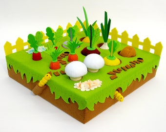 Toy Garden vegetables play set Gift for a child Waldorf toy for Baby shower Gift idea for children Kids birthday gift