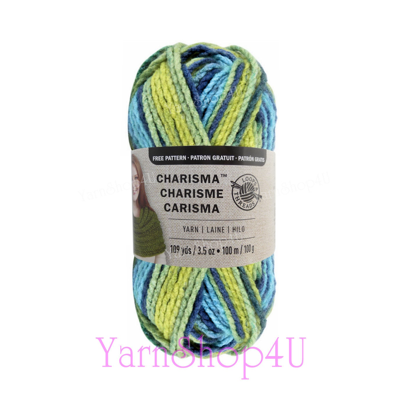 SUNNY DAY. Bulky Charisma Loops and Threads Yarn. This Variegated ...