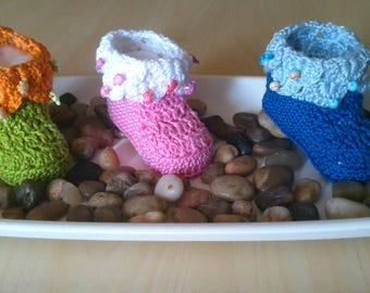 "Crochet Pattern Baby shoes ""Scale"""