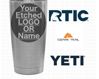Custom Engraved / Etched 20 oz. Tumbler Thermos Bulk - RTIC Yeti Ozark Trail Hogg