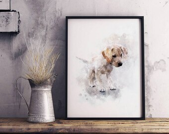 Pet Portrait Pet memorial Watercolor painting Fathers day gift Watercolor Portrait Dog portrait Personalized Dog drawing Illustration