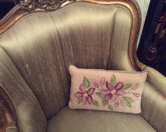 A very pretty tapestry cushion with violets