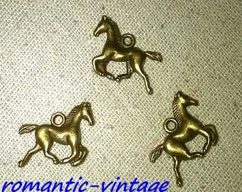 5 charms, 23 * 19mm bronze trotting horse charm