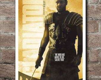 GLADIATOR Movie Quote Poster